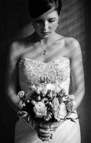 A bride portrait taken by Jonathan Addie, an Aberdeen based wedding photographer