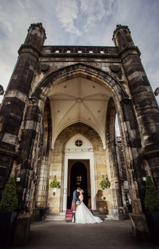 A creative wedding photo taken by Aberdeen wedding photographer Jonathan Addie using flash..