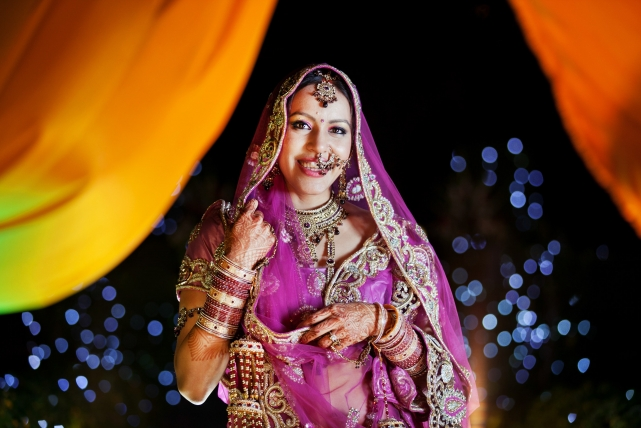 A portrait taken at a wedding in India by Jonathan Addie, an Aberdeen based wedding photographer