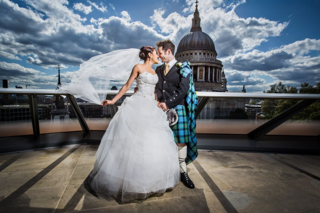 A couple photograph taken at a wedding in London by Jonathan Addie, an Aberdeen based wedding photographer