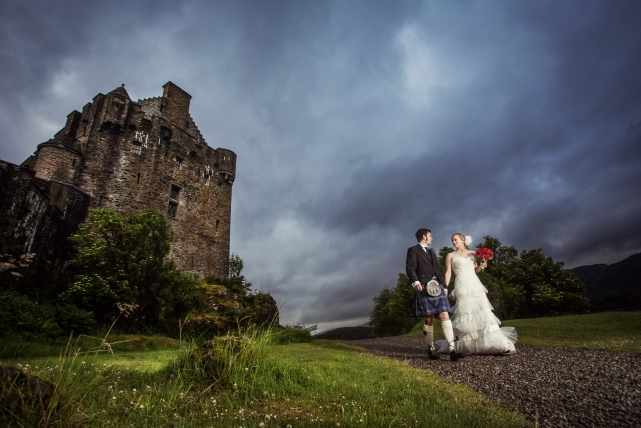A couple photograph taken at a wedding in Skye by Jonathan Addie, an Aberdeen based wedding photographer