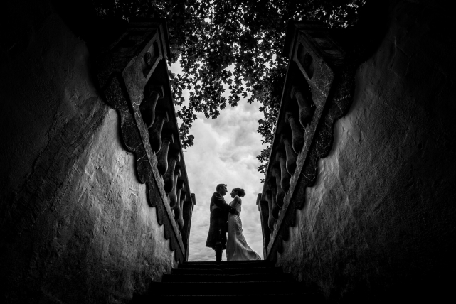 A creative photograph taken at a wedding in Aberdeen by Jonathan Addie, an Aberdeen based wedding photographer