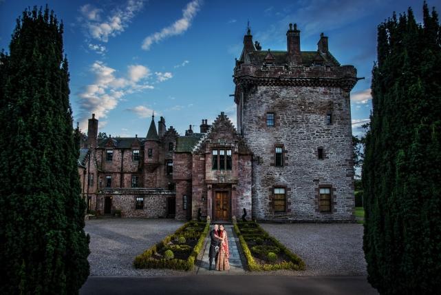 A creative couple photograph taken at a wedding in Aberdeenshire by Jonathan Addie, an Aberdeen based wedding photographer