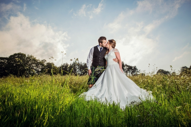 A couple photograph taken at a wedding at Logie by Jonathan Addie, an Aberdeen based wedding photographer