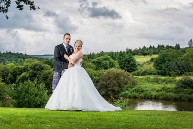 A couple photograph taken at Meldrum in Aberdeenshire by Jonathan Addie, an Aberdeen based wedding photographer