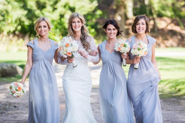 A bridesmaid photograph taken at a wedding in Aberdeen by Jonathan Addie, an Aberdeen based wedding photographer