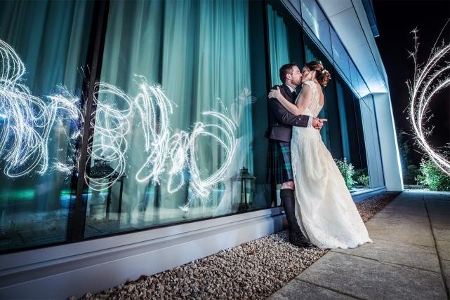 A creative photo taken at a Meldrum House in Aberdeenshire by Jonathan Addie, an Aberdeen based wedding photographer