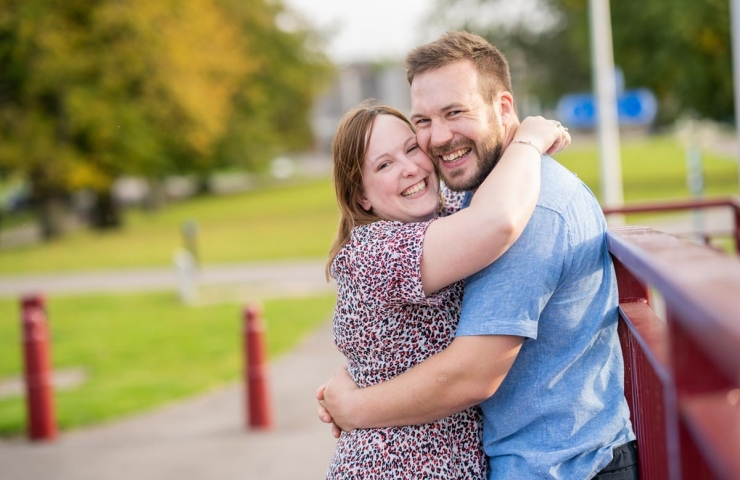 Gareth and Amanda's Elgin pre wedding shoot