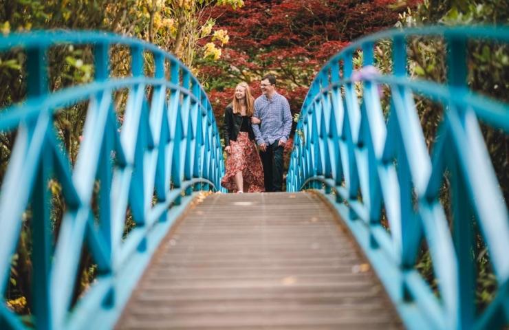 James and Rachel's Johnston Gardens pre wedding photo shoot.