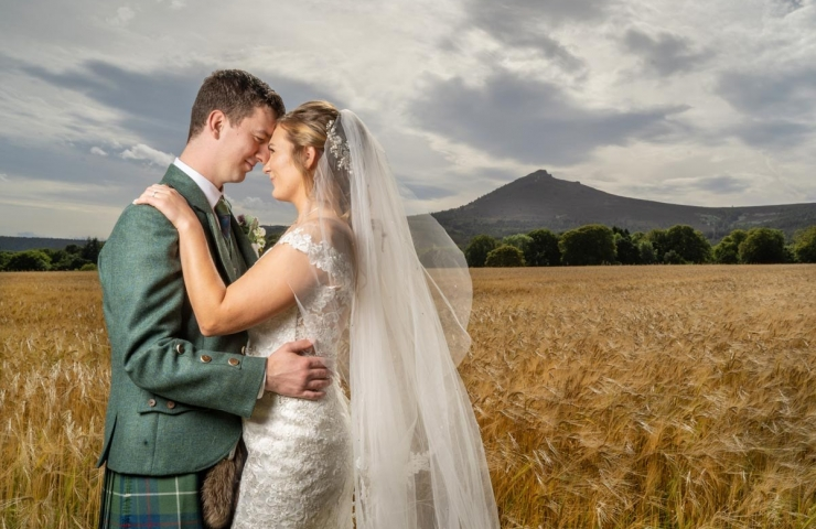 Alexander and Alana's Pittodrie House wedding.