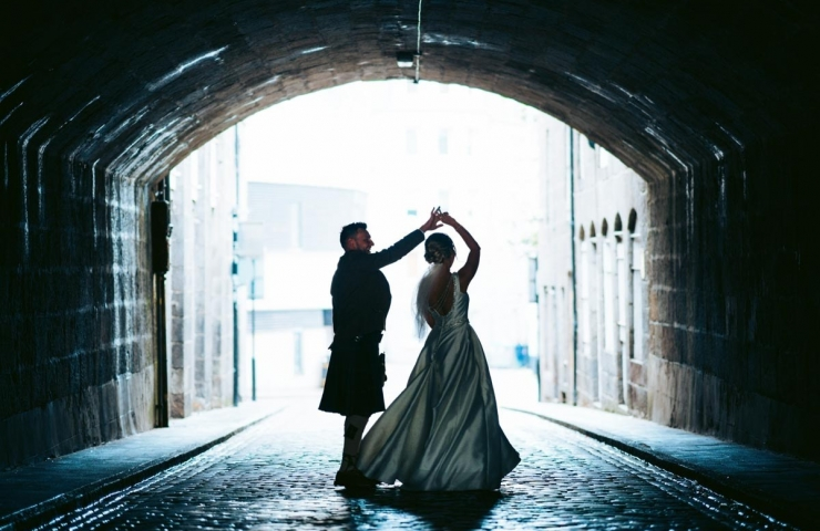 Erin and Andy's St. Machar Cathedral and Rox wedding