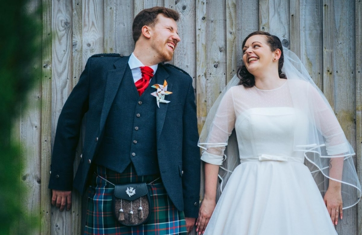 Aly and Laura's Cowshed wedding