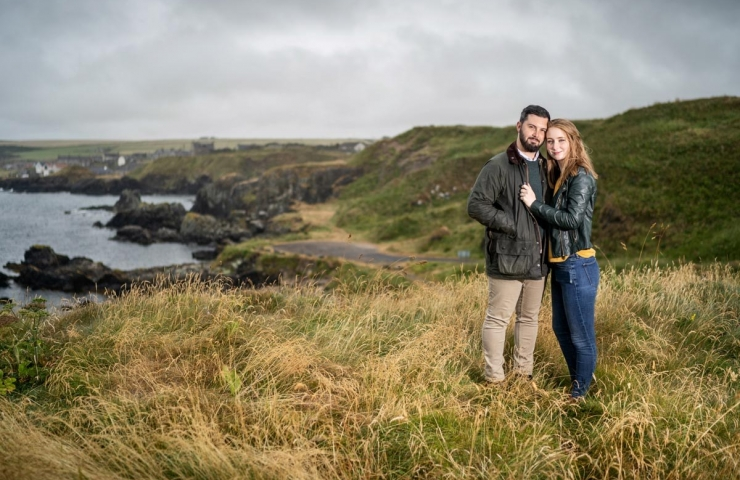 Dean and Helen's Portsoy pre wedding photo shoot.