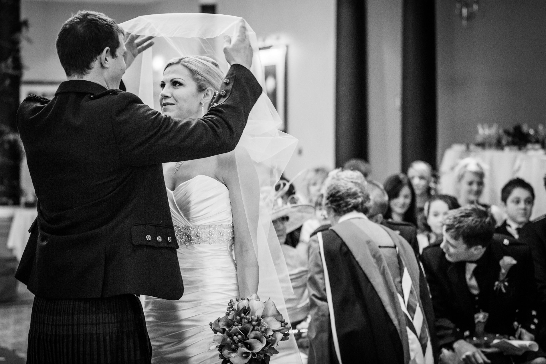 A candid photograph taken at a wedding in Aberdeen by Jonathan Addie, an Aberdeen based wedding photographer