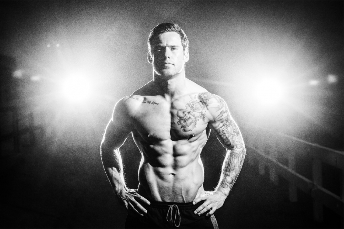 A fitness photograph taken by Jonathan Addie, an Aberdeen based commercial photographer.