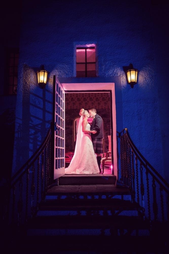 A creative couple photograph taken at a wedding in Aberdeen by Jonathan Addie, an Aberdeen based wedding photographer