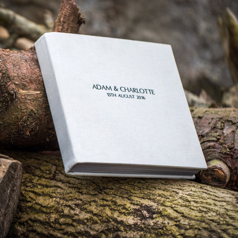 An example of a wedding album by Jonathan Addie, an Aberdeen based wedding photographer.